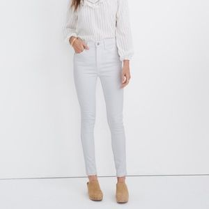 "Madewell 10"" High Rise Skiny white jeans B435"